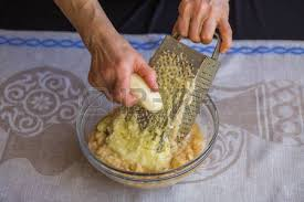 potato pancake grater potatoes shredded on a grater arms national russian dish