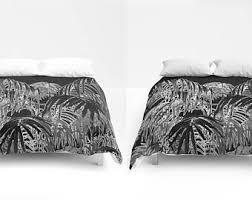 Black And White Tree Comforter Plant Duvet Cover Etsy