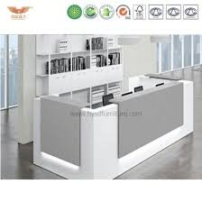 Rounded Reception Desk China Luxury Hospital Reception Equipment White Curved Reception