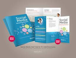 social media brochure template free half fold brochure template fieldstation co