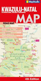 Drakensberg Mountains Map Natal Pietermaritzburg Midlands Drakensberg Road Map