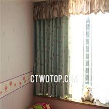 Grommet Top Valances Curtains With Green Color Grommet Top For Kids Room No Include