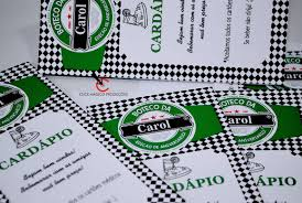 Basta Cardápio Triangular para Chá Bar e Boteco Heineken @KR49