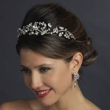 pearl headpiece antique silver pearl tiara headpiece bridal hair accessories