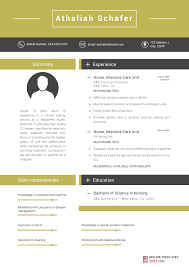 nursing resume template resume template can help you write an excellent cv