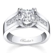 channel set engagement rings barkev s 14k white gold cathedral channel set engagement ring