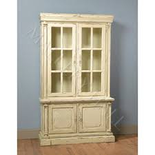 Distressed Black Bookcase French Country Distressed Black Breakfront Style Cabinet