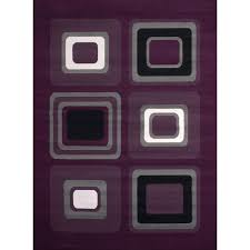 Lilac Runner Rug Westfield Home Montclaire Contemporary Color Blocks Lilac Runner