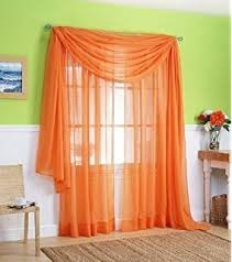 Bright Orange Curtains Amazon Com Monagifts Bright Turquoise Scarf Voile Window Panel