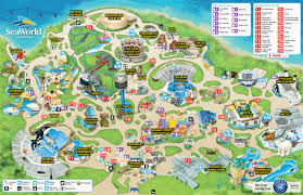 Map San Diego Seaworld San Diego Thrillz The Ultimate Theme Park Review Site