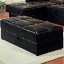 rectangular leather storage ottoman ottoman design