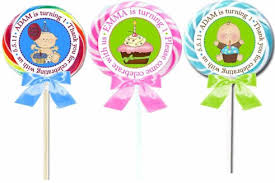 lollipop party favors birthday personalized lollipops 1st birthday lollipop favors