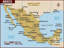 map usa lonely planet map of mexico