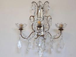 Vintage Crystal Sconces Crystal Candle Holder Sconces Thesecretconsul Com