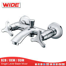 chrome bath tub hand hold shower mixer faucet from china wide