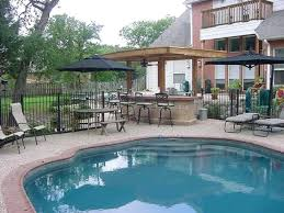 pool and outdoor kitchen designs simple decor backyard designs