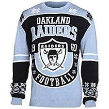 raiders christmas sweater with lights nfl oakland raiders unisex nfl cotton retro sweater large oakland
