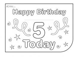 birthday card design template for 5 year old 5th birthday ichild