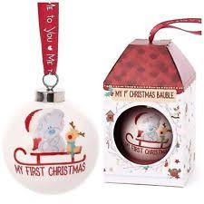 Baby S First Christmas Bauble Harrods by Christmas Me To You Teddy Bears Ornaments Ebay