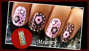 simple flower nail art simple flower nail art diy easy dot