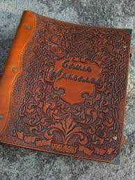 leather photo albums engraved leather family photo album with a engraved shop online on