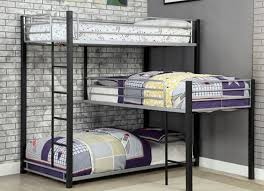 Corner Bunk Bed Gabriel Industrial Style Decker Bunk Corner Bunk Bed For 3