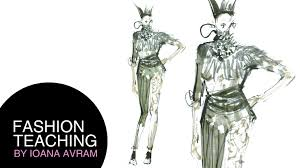 How To Draw Fashion Designs How To Draw A Fashion Sketch In Copic Markers Youtube