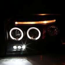 dodge dakota fog light 05 07 dodge dakota dual angel eye halo led strip projector