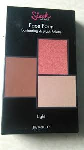 sleek makeup face form contouring and blush palette in light review