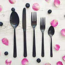 black cutlery set canvas home black cutlery set u2013 get the look interiors