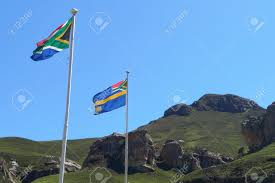 Image Of South African Flag South African Flags At Sani Pass Border Control Between South