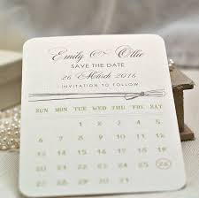 calendar save the date calendar style personalised save the date cards by beautiful day