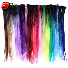 24 inch extensions silike 24 inch handmade dreadlocks hair extensions purple ombre