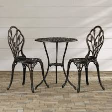 Outdoor Furniture Iron by Two Person Patio Dining Sets You U0027ll Love Wayfair