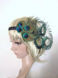 peacock headband peacock feather 1920s flapper style headband on luulla