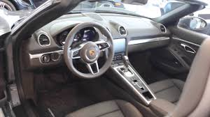 porsche graphite blue interior 2017 boxster 718 graphite blue on agate grey p4888 youtube