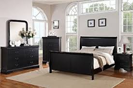 black sleigh bedroom set amazon com louis phillipe black king size bedroom set featuring