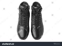 mens leather short boots isolated on stock photo 705265633