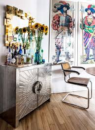 Jonathan Adler Bar Cabinet In The Home Of Jonathan Adler S Director Of Interiors