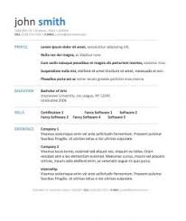 free easy resume templates fashionable basic resume template word