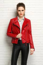 red leather motorcycle jacket find more leather u0026 suede information about factory women leather