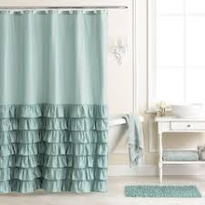 Flower Drop Shower Curtain Blue Shower Curtains Shower Curtains U0026 Accessories Bathroom Bed