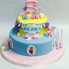 2 tier disney princess cake children u0027s birthday cakes