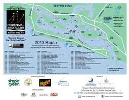 Ana Route Map Newport U0027s 105th Christmas Boat Parade Route Map And Theme