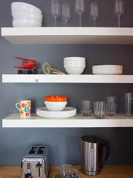 the benefits open shelving kitchen hgtv decorating super convenient contemporary kitchen