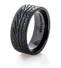 mens rubber wedding bands goodyear eagle f1 supercar tire wedding ring titanium buzz