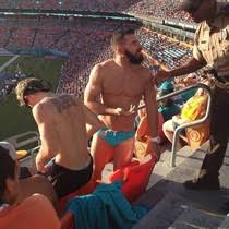 Speedo Meme - miami dolphins fan kicked out for wearing speedo at the stadium