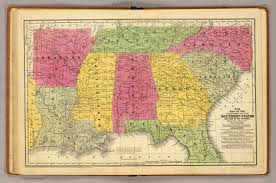 Map Of Southern States Southern States David Rumsey Historical Map Collection