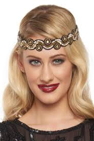 headbands that go across your forehead 1920s headband headpiece hair accessory styles
