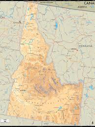 map of idaho physical map of idaho ezilon maps